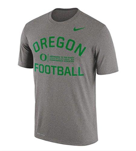 Nike University Oregon (Mens Nike Dri-Fit Gray University of Oregon Ducks Legend Lift Performance T-Shirt (Medium))