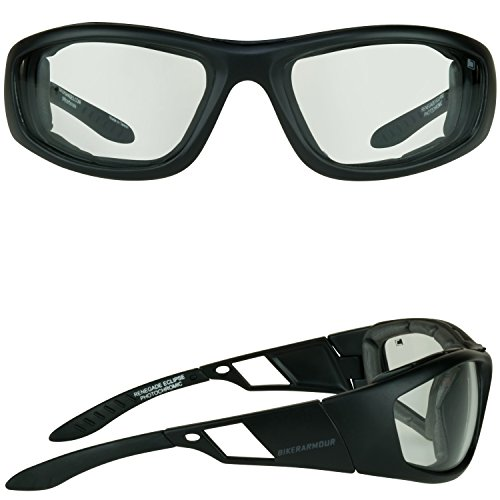 669a97ca20 Motorcycle Riding Transitional Glasses Foam Padded for Men   - Import It All