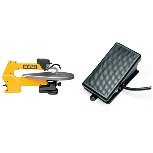 DEWALT Scroll Saw, Variable-Speed, 1.3 Amp, 20-Inch (DW788) & MLCS 9080 Billy Pedal Foot Switch, Deadman Style