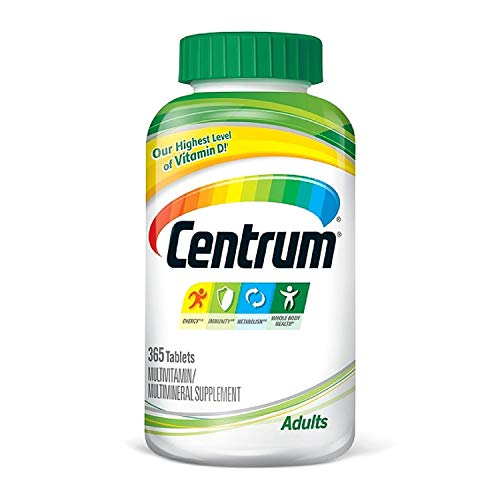 Centrum Adult Multivitamin/Multimineral Supplement Tablet, Vitamin D3, Age 50 and Older (365 ct.)