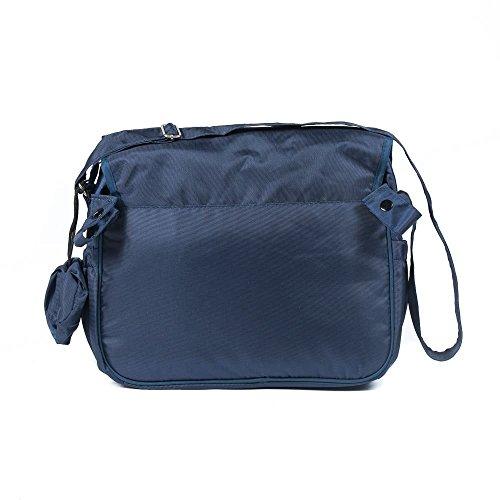 Roma Vincent Rizzo Wickeltasche in Marineblau inklusive Druckverschlussbeutel und handlich Schnuller/Beruhigungssauger Geldbörse