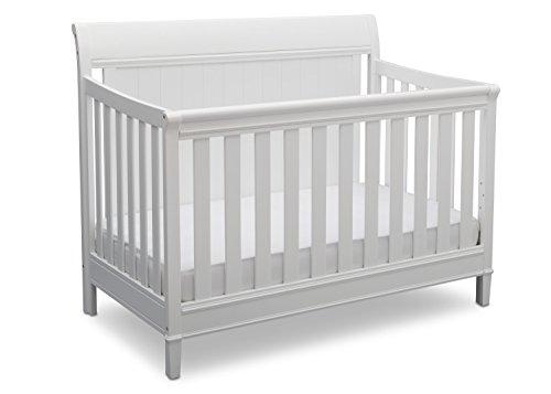 Delta Children New Haven 4-in-1 Convertible Baby Crib, Bianca White