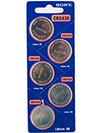 5PC SONY CR2430 2430 Lithium Watch Battery 3V 280mAh - Exp Date: 2021