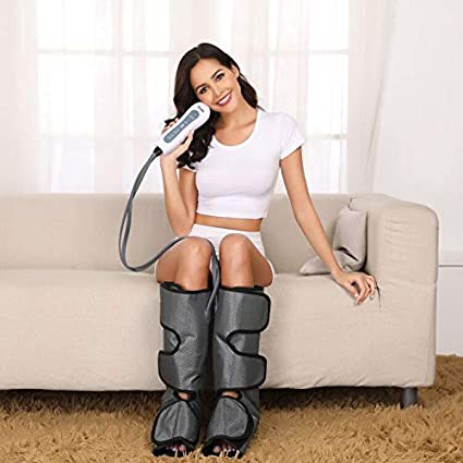 Amazon.com: Leg Massager for Circulation- Upgrade Leg Massager Wraps for  Foot and Calf Circulation for Pain Relief and Muscle Relaxing with Handheld  Controller by Silvox (Grey): Health & Personal Care