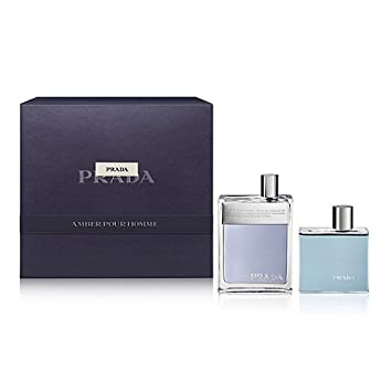 766727c5 Amazon.com : Prada Amber Gift Set By: Prada, Men's : Beauty