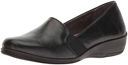 LifeStride Women's Isabelle Loafer Flat, Black, 7.5 M US ()