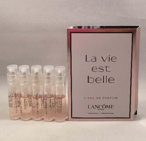 5 la vie est belle Spray Sample Perfume Travel Vial 0.05 oz/1.5 ml Lot