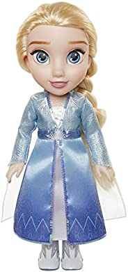 Disney Frozen 2 Elsa Travel Doll - Features Shimmery Ice Crystal Winged Cape Boots and Hairstyle - Ages 3+, 14