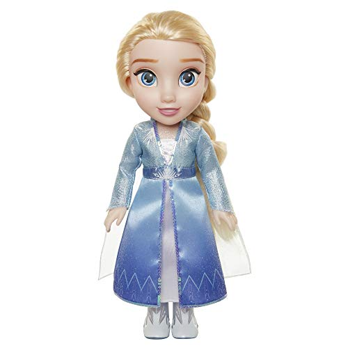 Disney Frozen 2 Elsa Travel Doll - Features Shimmery Ice Crystal Winged Cape Boots and Hairstyle - Ages 3+