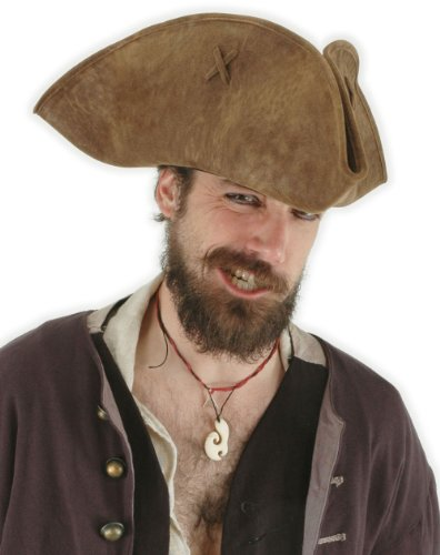 [290411 (Brown Distressed) Scallywag Hat] (Scallywag Pirate Costume)
