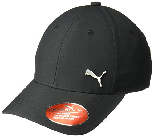 PUMA Men's Evercat Alloy Stretch Fit Cap, Black/Silver, Large/Extra Large Puma Black Hat