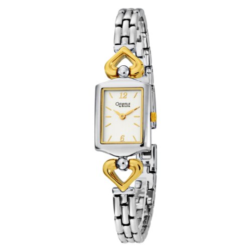 Caravelle by Bulova Women's 45L112 Bracelet Two-Tone Square Watch