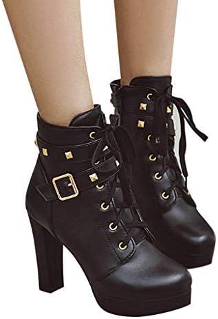 [해외]Fainosmny 패션 겨울 벨트 버클 퓨어 컬러 하이힐 여성용 앵클 부츠 파티 신발 / Fainosmny 패션 겨울 벨트 버클 퓨어 컬러 하이힐 여성용 앵클 부츠 파티 신발
