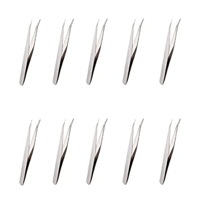 Fenteer 10pcs Curved Nippers Tweezers for Beekeeper Removing Larvae Collecting Honey