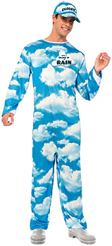 [Forum Novelties Men's Cloudy with A Chance Of Rain Costume, Blue/White, Standard] (Chance Of Rain Costume)