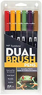 Tombow Dual Brush Pen Art Markers, Secondary, by: Amazon.es: Hogar