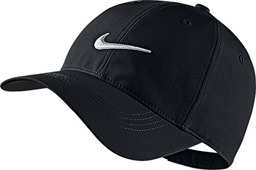NIKE Mens Golf Legacy91 Tech Adjustable Hat Black/White 727042-010 (Nike Sports Cap)