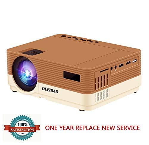 Deeirao LEDポータブルプロジェクター 3600ルーメン ビデオプロジェクター 2K 1080P 720P対応 Fire TV Stick PS4 Xbox対応