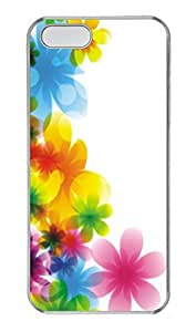 iPhone 5 5S Case Patterns Colorful Flowers PC Custom iPhone 5 5S Case Cover Transparent