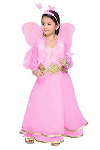 Aarika Girl's Christmas Angel Gown with Butterfly Wings (PARI-767-PINK_30_8-9 Years) by Aarika
