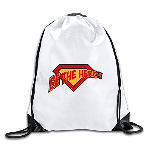 HAOHAO Men's Be The Hero Drawstring Backpacks/Bags