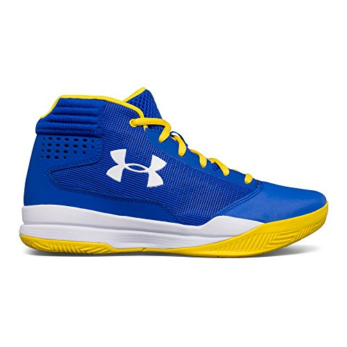 Under Armour Boys' Grade School Jet 2017 Basketball Shoe, Team Royal (400)/White, 7