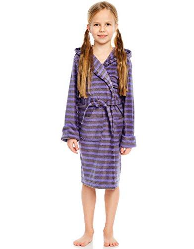 (Leveret Fleece Sleep Robe Purple & Grey 12 Years)