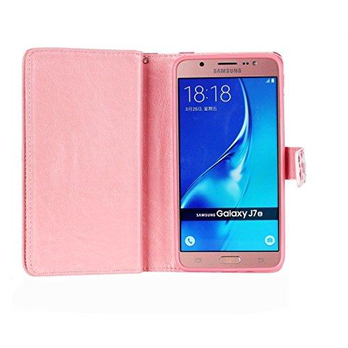 Fashion & personality Para Samsung Galaxy J7 (2016) / J710 patrón de patrón horizontal Flip caja de cuero con 9 ranuras para tarjetas y cartera y titular ( SKU : SAS0116E ) SAS0116M