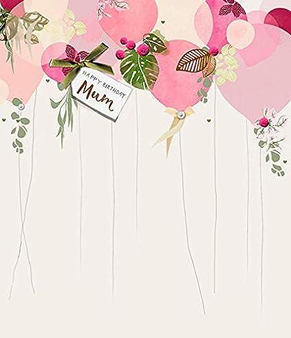 Tarjeta de cumpleaños para mamá, diseño de globos: Amazon.es ...