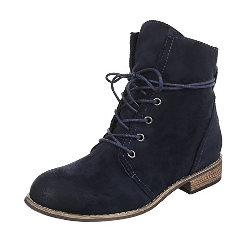 Ital-Design WoMen Biker Boots Dark Blue