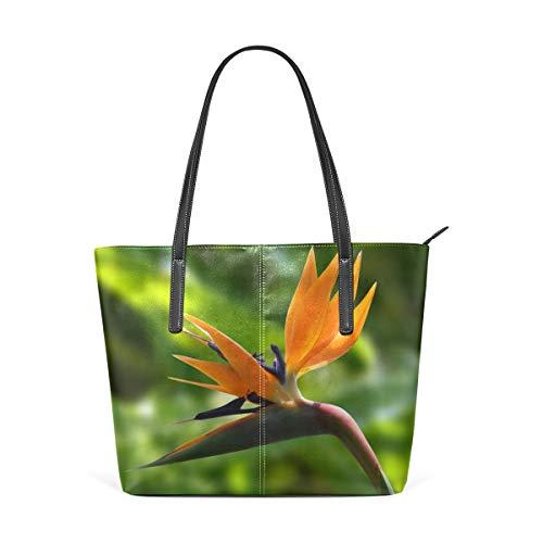 Tote Bags Birds Of Paradise Flower View Leather Satchels Purses Shoulder Satchel Womens