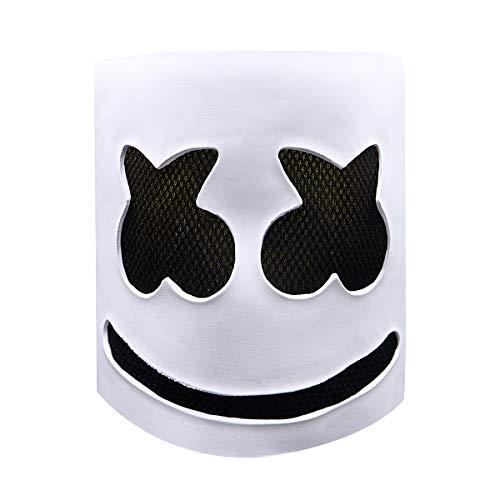 DJ Marshmello Mask Full Face Cosplay Costume Carnaval