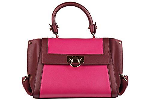 Salvatore Ferragamo sac à main femme en cuir sofia rouge