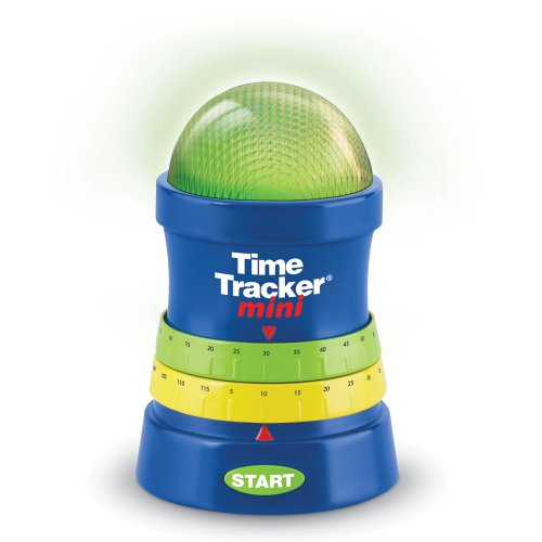 (Learning Resources Time Tracker Mini Visual Timer, Auditory and Visual Cue, Ages)