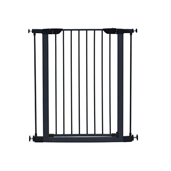MidWest 39″ High Walk-thru Steel Pet Gate, 29″ – 38″ Wide in Textured Graphite