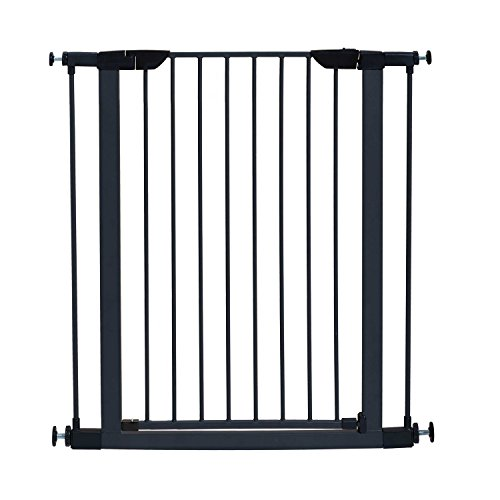 MidWest 39' High Walk-thru Steel Pet Gate, 29' - 38' Wide in Textured Graphite