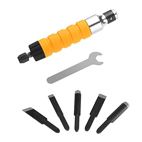 Yosooo Electric Woodworking Carving Chisel Engraving Knife Tool for Carpenter and Graver 5 Blades and 1 Wrench