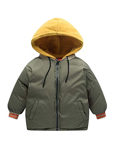 Jackets Hooded Kids Casual Daily Children Zipper Wear Durable Cotton Boys Outerwear Girls Coats Green Army Jacket BESBOMIG wq16fpX