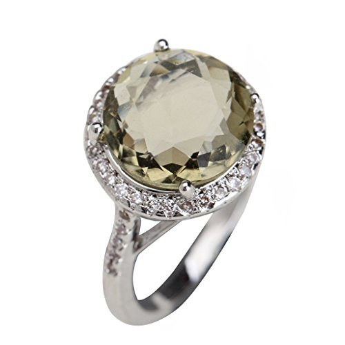 Smoky Quartz Cubic Zirconia Ring - 2