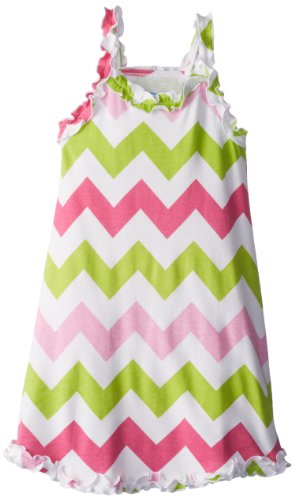 Sara's Prints Girls 2-6X Girl's Ruffle Tank Nightgown