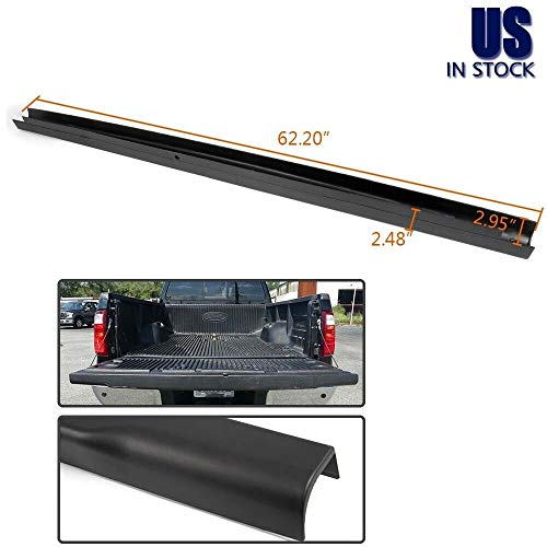 1 PCs of Premium Tailgate Molding Cap Spoiler Top Cover Fit for 2008-2016 Ford F250 F350 F450 Super Duty Models Only - OE Style + Light Weight + Durable + Paintable (Black)