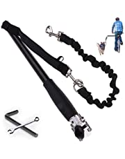 Wefaner,Hands Free Dog Bike Leash for Bike Trailer,Dog Bicycle Exerciser Leash Hands Free Bicycle Dog&Stainless Steel Cycling Bike Leash can Afford Strength up to 110-lbs Leash