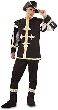 Disfraz de Mosquetero negro para hombre talla M-L: Amazon.es ...