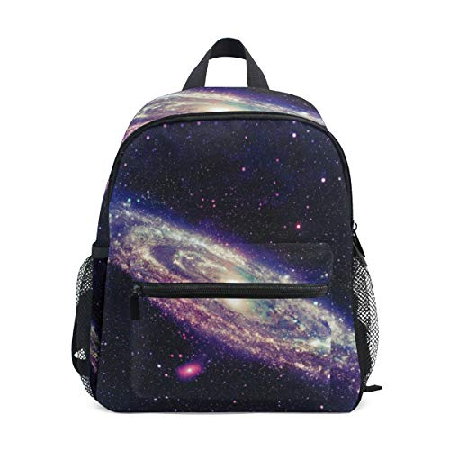 Glowing Spiral Galaxy School Backpack For Boys Kids Preschool School Bag Toddler Bookbag