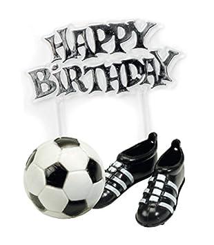COOLMP - Juego de 12 Adornos de fútbol para cumpleaños ...