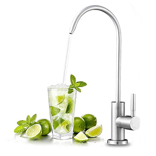 (FLG Stainless Steel Kitchen Sink Reverse Osmosis Filter Drinking Water Purifier Faucet,Beverage Water Filtration Faucet Brushed)