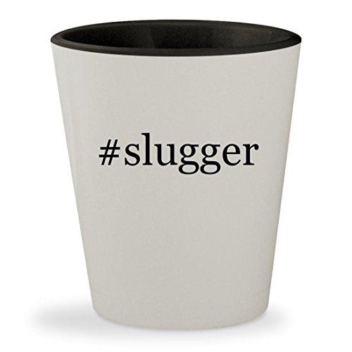 Price comparison product image #slugger - Hashtag White Outer & Black Inner Ceramic 1.5oz Shot Glass