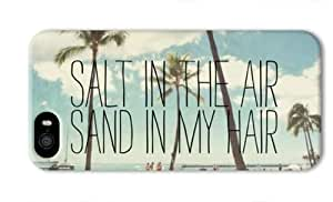 Beach Quote Salt In The Air Sand In My Hair Case For Iphone 6 4.7 Inch Cover 3D case Image Full Wrap