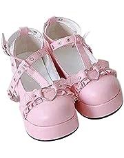 QERMULA Vrouwen Platform Wedges Schoenen INS Hot Cosplay Lolita Japanse vrouwen Pumps Kawaii Angel Bat Pumps Cosplay Jurk Schoenen Lolita Schoenen