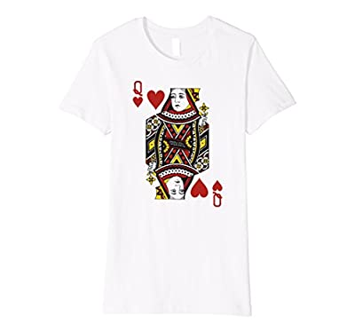 QUEEN OF HEARTS | Card Suit Halloween Costume, Poker T shirt